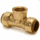 Brass Push Fit 15mm Female Branch Tee 1/2 inch - 27301500